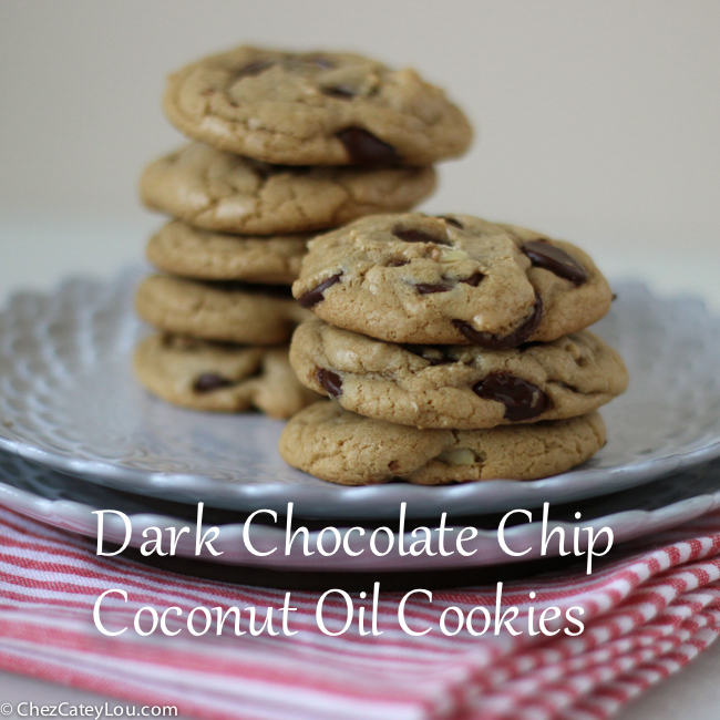 Dark Chocolate Chip Coconut Oil Cookies