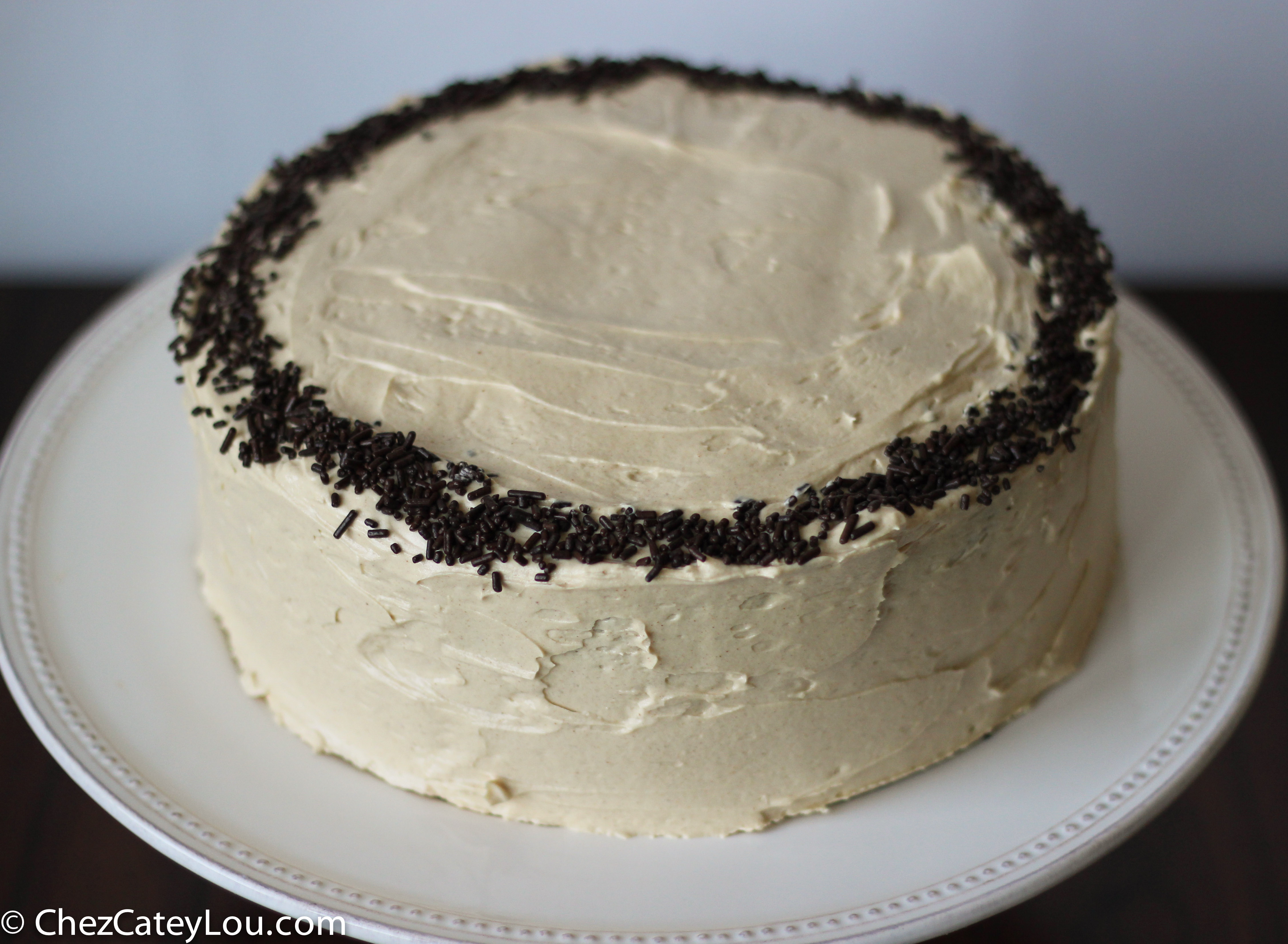 Chocolate Cake with Peanut Butter Buttercream Frosting {Chez CateyLou ...