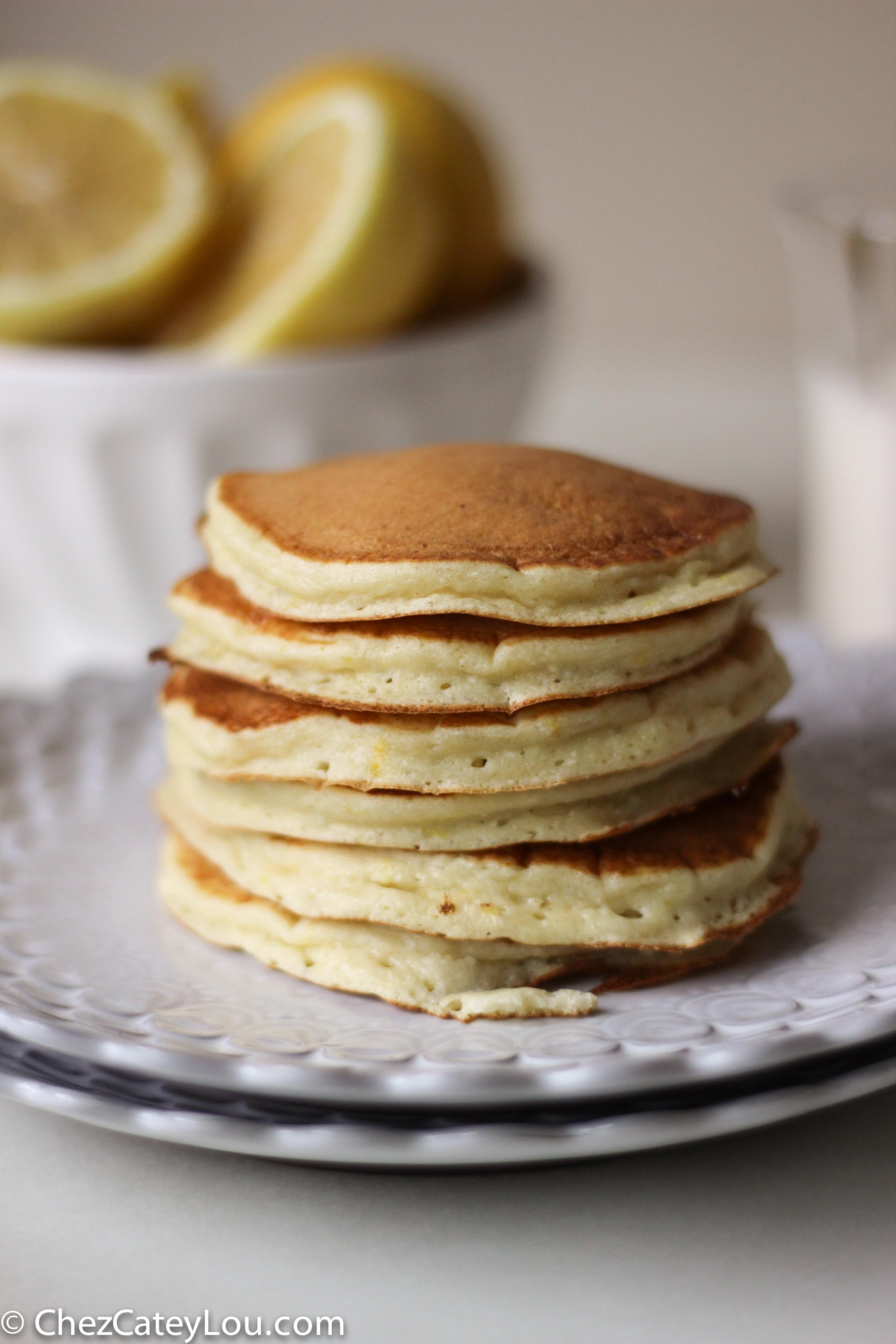 Lemon Ricotta Pancakes - Chez CateyLou