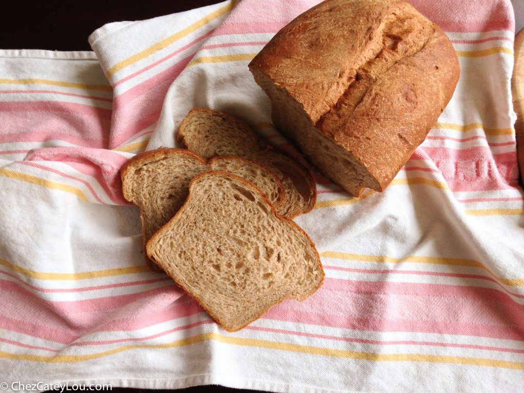 Whole Wheat Bread | chezcateylou.com