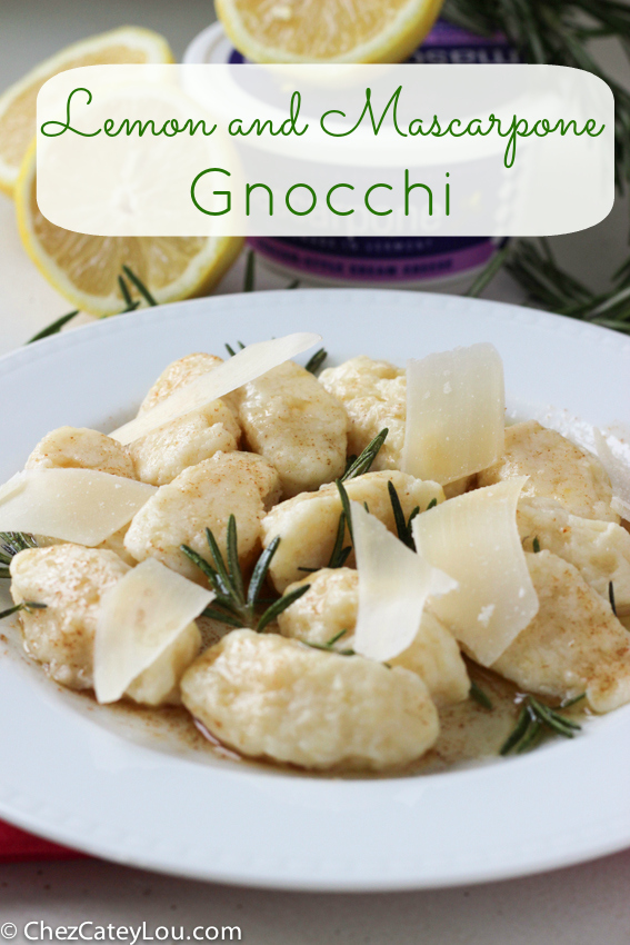 Lemon and Mascarpone Gnocchi with Rosemary Brown Butter | chezcateylou.com