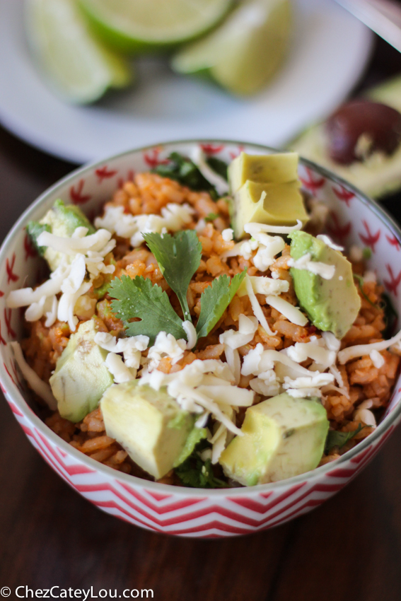 Mexican Rice made with Brown Rice | chezcateylou.com