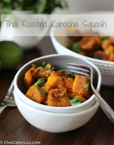 Thai Roasted Kabocha Squash   chezcateylou.com