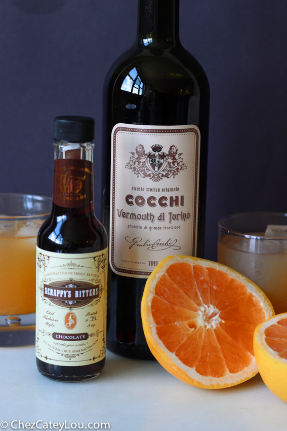 Grapefruit Tequila Cocktail with Chocolate Bitters | chezcateylou.com