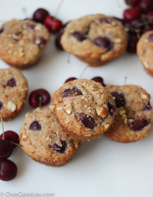 Cherry Almond Muffins | chezcateylou.com