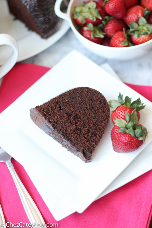 Chocolate Bundt Cake made with Sour Cream | chezcateylou.com
