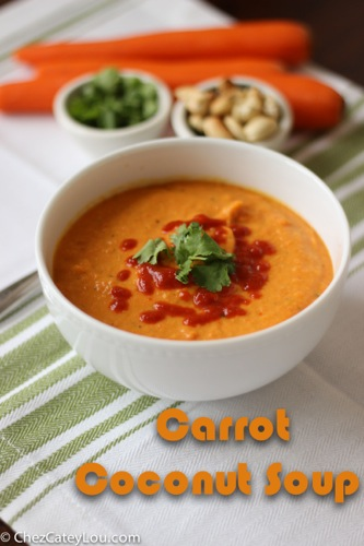 Carrot Coconut Soup   ChezCateyLou.com