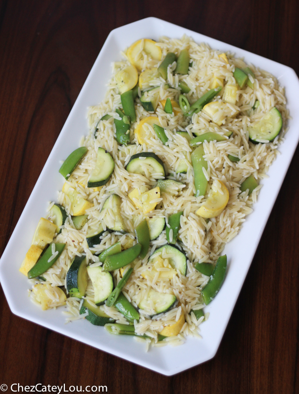 Orzo and Snap Pea Salad - Chez CateyLou
