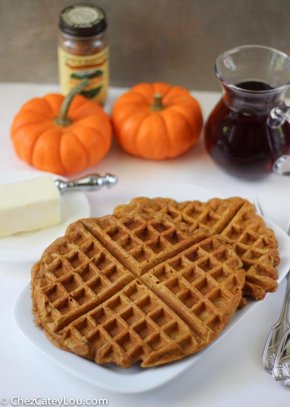 Pumpkin Waffles | ChezCateyLou.com #PumpkinWeek