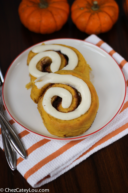 Pumpkin Cinnamon Rolls With Maple Cream Cheese Icing Recipe ...
