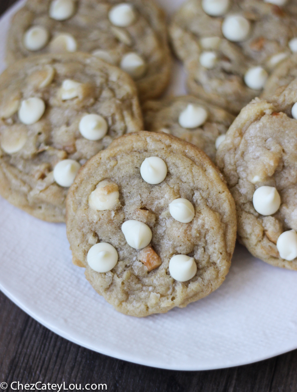 ... White Chocolate Coconut Macadamia Nut Cookies are sweet and nutty and