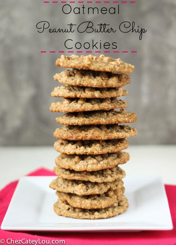 Oatmeal Peanut Butter Chip Cookies | ChezCateyLou.com