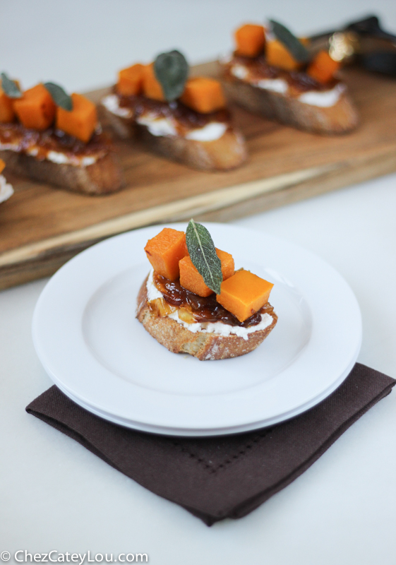 Crostini With Caramelized Onions, Melted Cheese & Sage ...