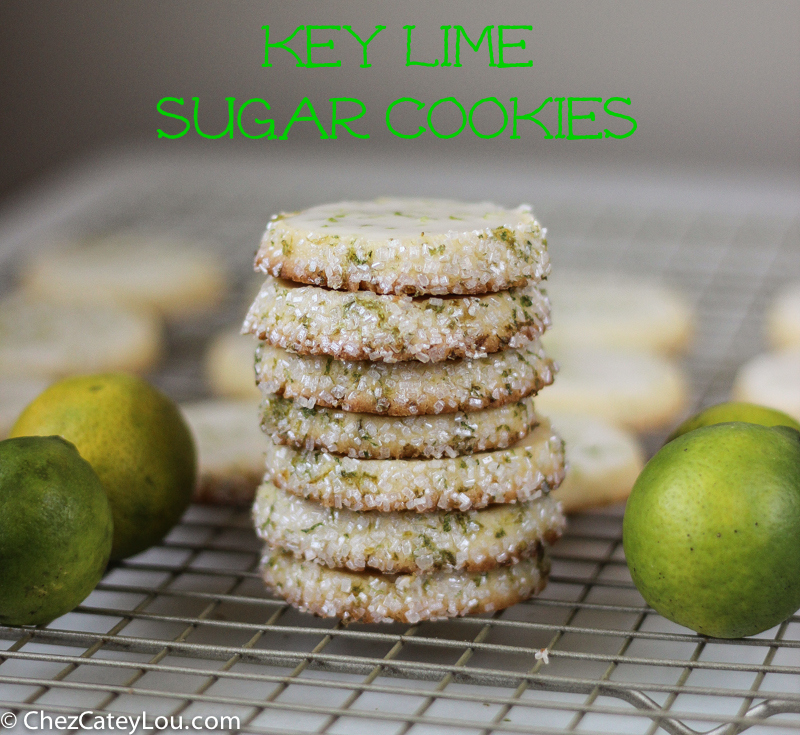 Key Lime Sugar Cookies | ChezCateyLou.com