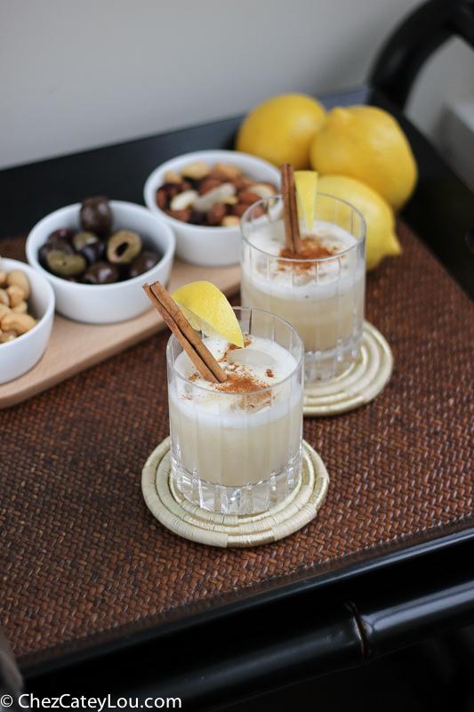 Aero Whiskey Sour Cocktail | ChezCateyLou.com