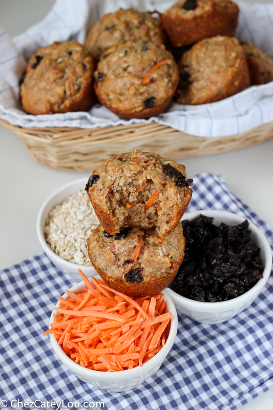 Skinny Carrot Cake Muffins   ChezCateyLou.com