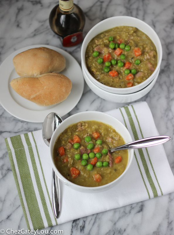 Split Pea Soup with Ham | ChezCateyLou.com
