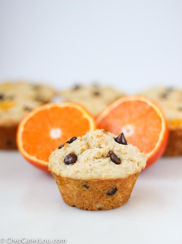 Orange Chocolate Chip Yogurt Muffins
