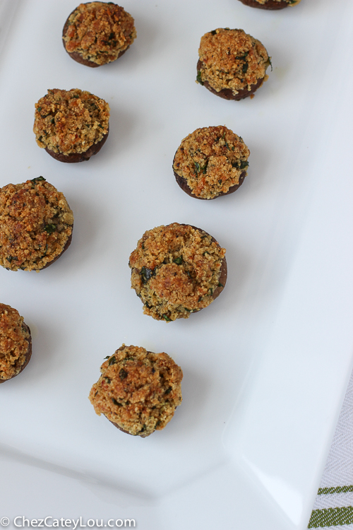Gluten Free Stuffed Mushrooms | ChezCateyLou.com