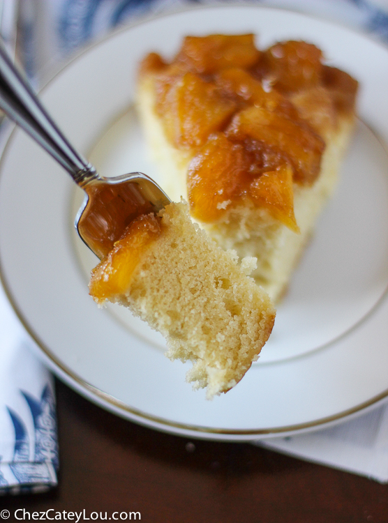 Pineapple Upside Down Cake   ChezCateyLou.com