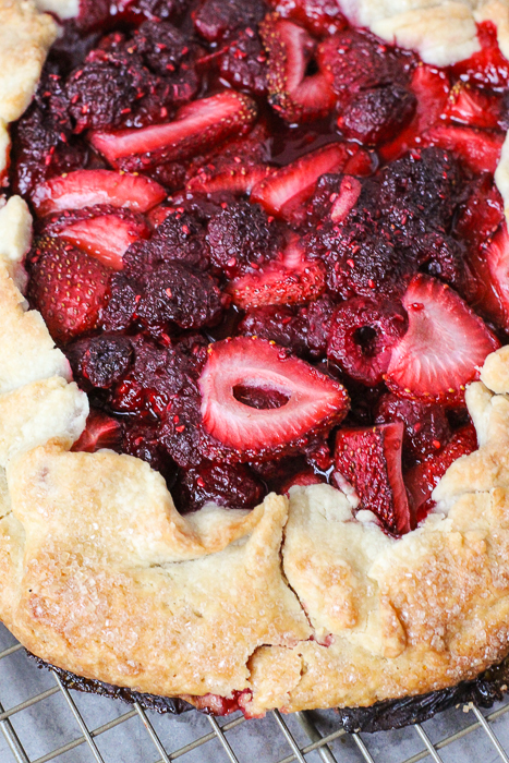 Mixed Berry Galette | ChezCateyLou.com