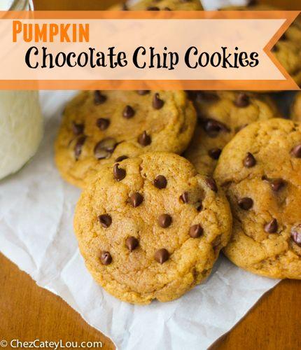 Pumpkin Chocolate Chip Cookies | ChezCateyLou.com
