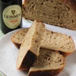 No Knead Irish Brown Bread made with Guinness | chezcateylou.com