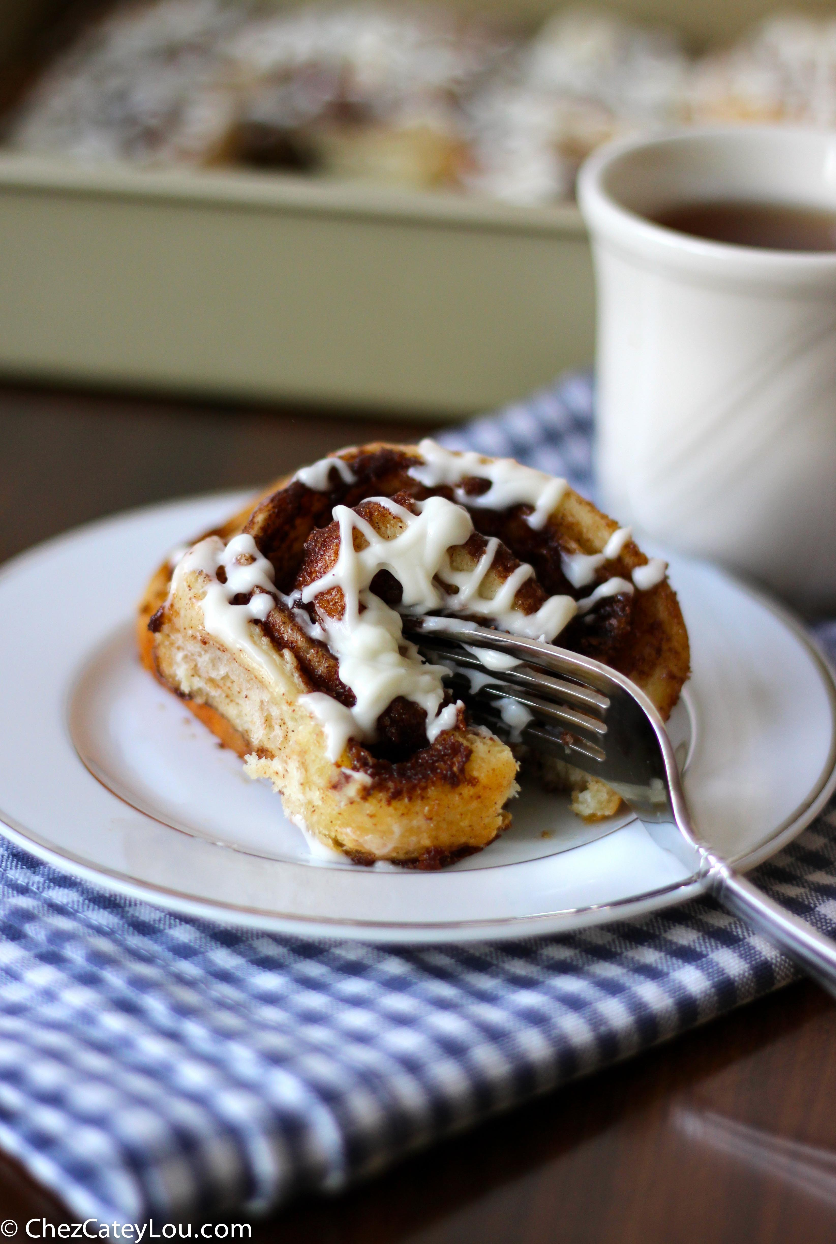One Hour Cinnamon Rolls with Cream Cheese Icing