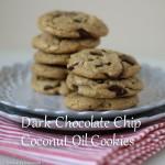 Dark Chocolate Chip Coconut Oil Cookies