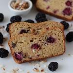 Blackberry Coconut Yogurt Bread-7