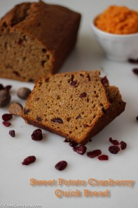 Sweet Potato Cranberry QuickBread