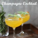 Clementine Rosemary Champagne Cocktail | chezcateylou.com