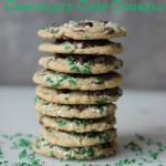 St. Patrick's Day Funfetti Chocolate Chip Cookies | chezcateylou.com