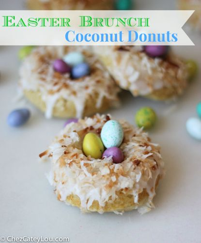 Easter Brunch Coconut Donuts | chezcateylou.com