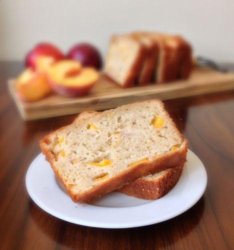 Peach Yogurt Bread with Cinnamon