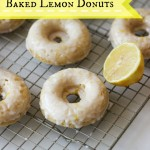Baked Lemon Donuts made with Greek Yogurt | chezcateylou.com
