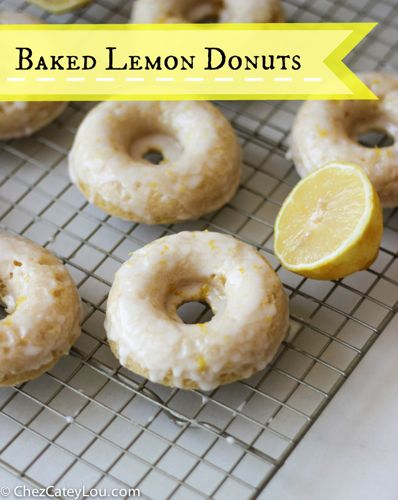 Baked Lemon Donuts with Greek Yogurt | chezcateylou.com