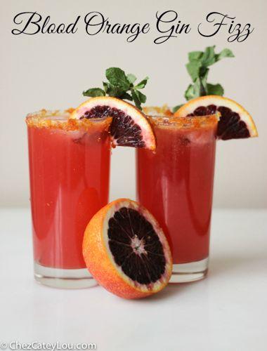 Blood Orange Gin Fizz   chezcateylou.com