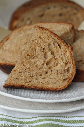 No-Knead Irish Brown Bread   chezcateylou.com