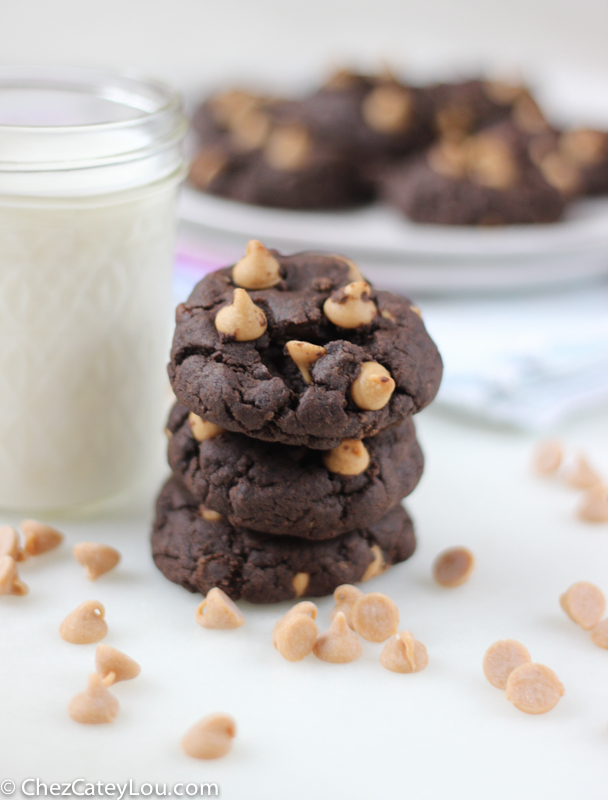 Flourless Chocolate Peanut Butter Cookies | chezcateylou.com