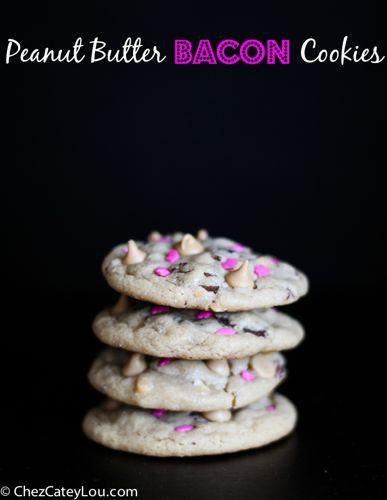 Peanut Butter Bacon Cookies   chezcateylou.com