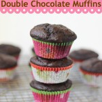 Double Chocolate Muffins | chezcateylou.com #muffins #recipe