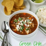 Green Chile Chicken Soup | ChezCateyLou.com #soup #recipe