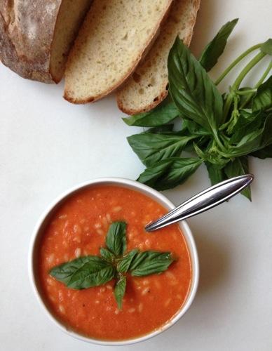 Creamy Tomato Orzo Soup with Greek Yogurt | ChezCateyLou.com