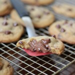 Nutella Stuffed Chocolate Chip Cookies | chezcateylou.com #OXOGoodCookies