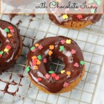 Baked Pumpkin Donuts with Chocolate Icing | ChezCateyLou.com