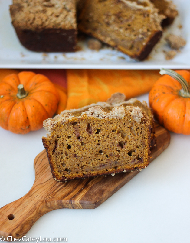 Crumb Topped Pumpkin Bread