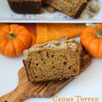 Crumb Topped Pumpkin Bread | ChezCateyLou.com