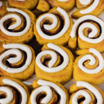 Pumpkin Cinnamon Rolls with Cream Cheese Frosting |ChezCateyLou.com #PumpkinWeek