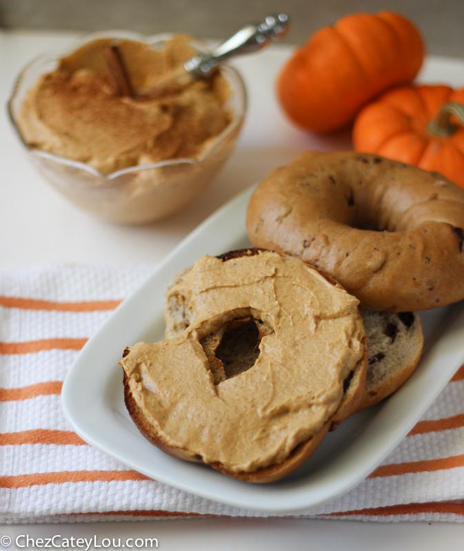 Pumpkin Cream Cheese | ChezCateyLou.com #PumpkinWeek